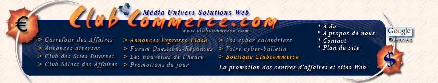 Clubcommerce Média Univers, votre site promotionnel